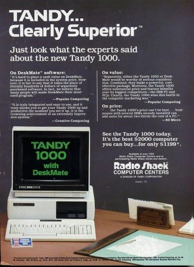 Tandy Advert