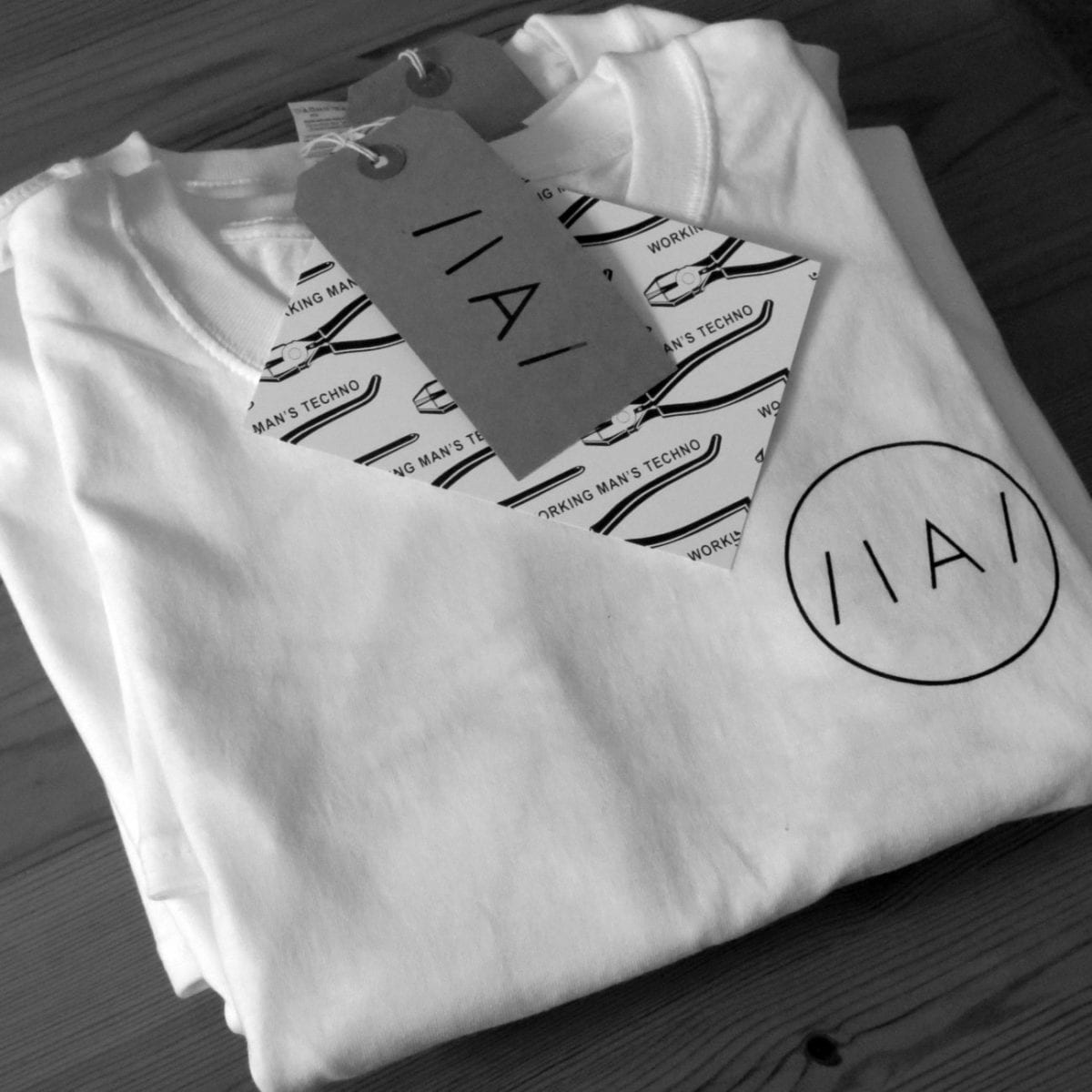 Inverted Audio White Material T-Shirt