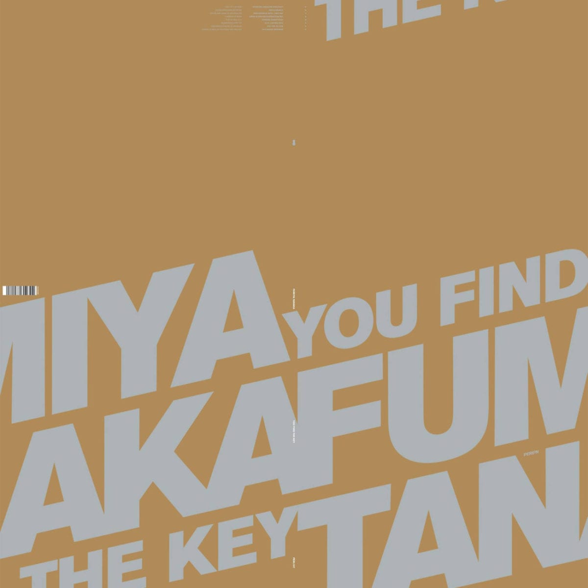 Perlon to release Fumiya Tanaka 'Find The Key' LP - Inverted