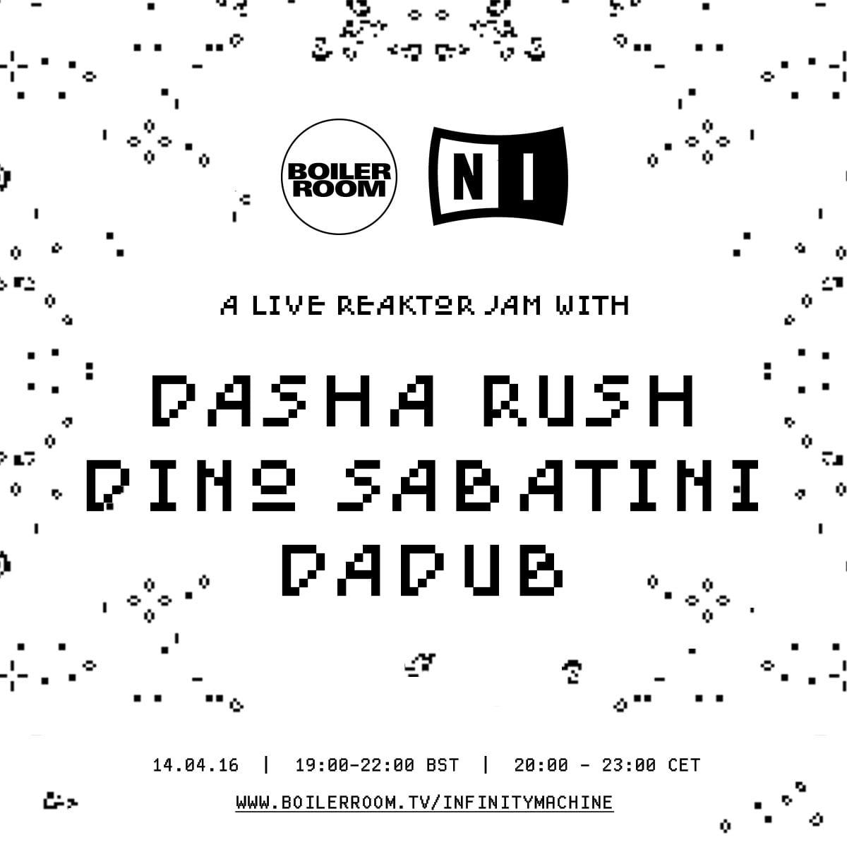 Boiler Room x Native Instruments: Dasha Rush & Dino Sabatini Live ...