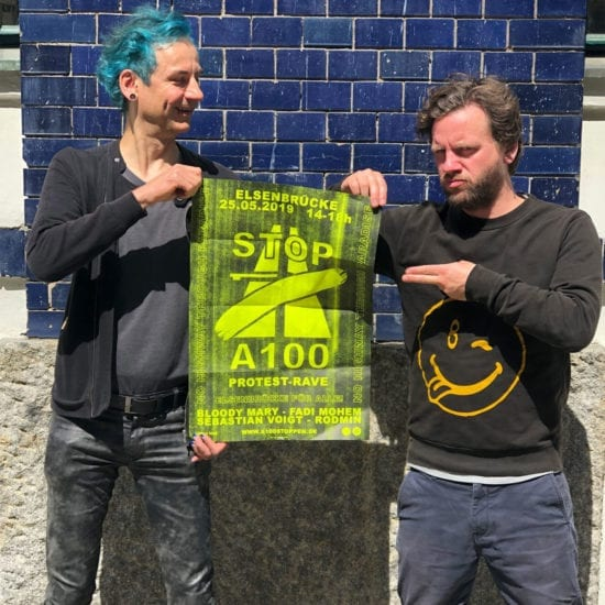A100 Protest Rave